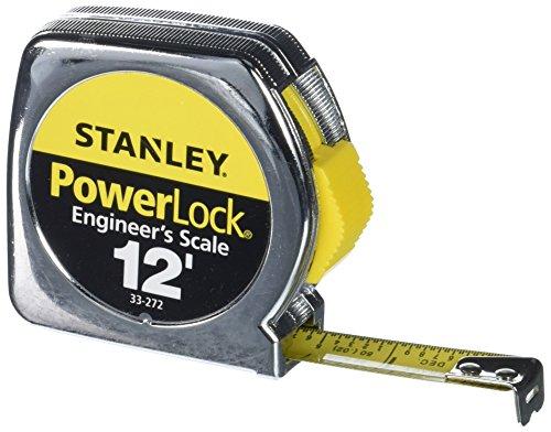 STANLEY PowerLock Tape Measure, Heavy-Duty, Engineer's Scale with...
