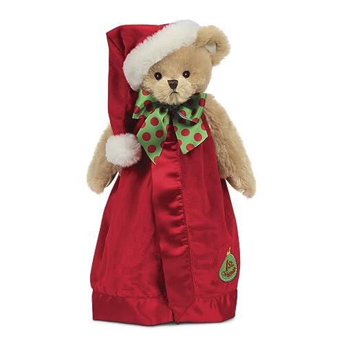 0a4b16138 Bearington Baby's 1st Christmas Santa Teddy Snuggler, Plush Security Blanket,  ...