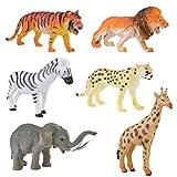 Felly Juguetes Animales, 6 Conjunto Mini Selva Figuras de Animales Plstico Juguetes Porttiles para el Bao, para Bolsas Fiesta, Premios para Nios Pequeos Chicos Chicas