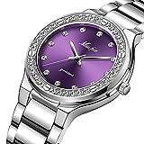 ZHUANYIYI Reloj De Cuarzo Impermeable A Escala De Diamantes De Imitación con Personalidad De Moda para Mujer