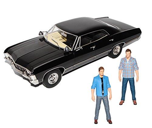 Greenlight Chevrolet Impala Sport Sedan mit 2 Figuren 1967 Limousine Schwarz Supernatural 1965-1970 1/18 Modell Auto