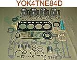 HHP Yanmar 4TNE84 2.0L Diesel Overhaul Rebuild Kit YOK4TNE84D ISO 9001: 2015 Certified Facility. New Quality Engine Parts.