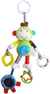 Anniston Kids Toys, Newborn Baby Crib Hanging Cartoon Animal Plush Doll Hand Bell Infant Rattle Baby Toys for Children Tod...