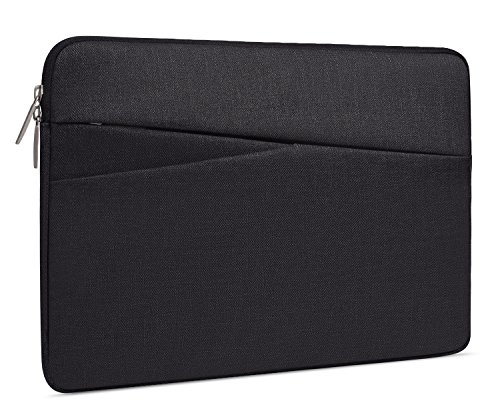 15.6 Inch Waterproof Laptop Sleeve Case for Acer Aspire E15/Acer Chromebook 15,Dell Samsung Toshiba HP Asus Series and Other 15-15.6 Inch Chromebook Laptops Portable Bag,Black
