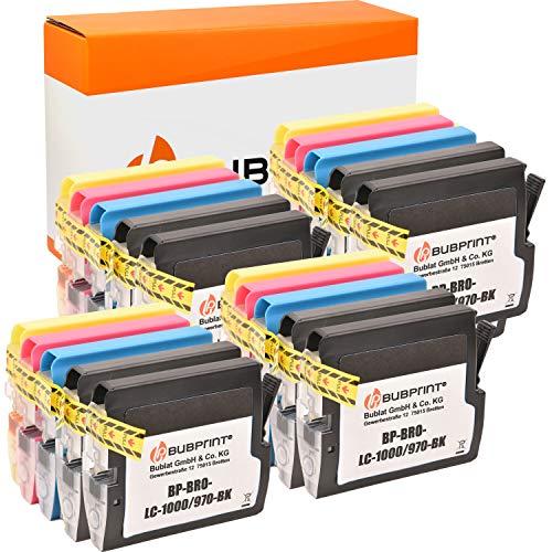Bubprint Kompatibel Druckerpatronen als Ersatz für Brother LC-1000 LC-970 für DCP-130C DCP-135C DCP-150C DCP-350C DCP-357C MFC-235C MFC-240C MFC-260C MFC-465CN MFC-5460CN Fax 1355 Multipack 20er-Pack