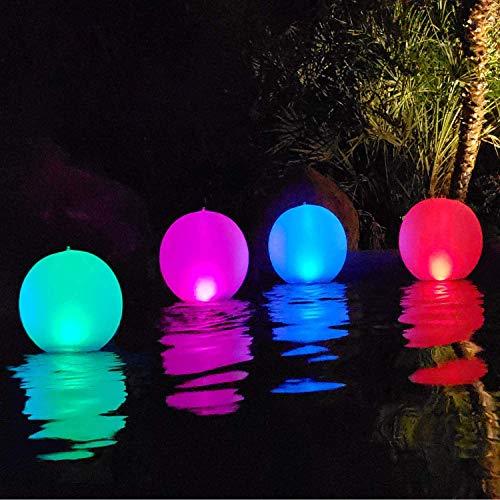 Solarlampen für außen,14'' LED Solar Gartenleuchte Kugel Schwimmkugel Wasserdichte IP68 LED Solarlichter Aufblasbare Solar Glow Globe Kugel/Außenleuchte/Gartenlampe/Kugelleuchte Patentiert(4PCS)