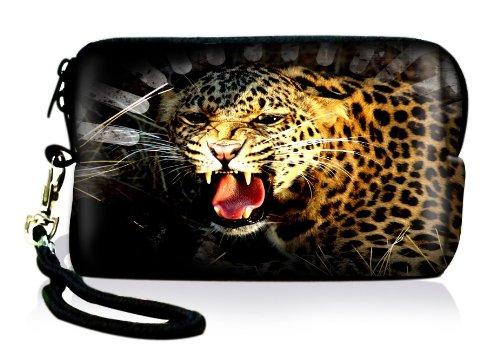 Luxburg® Design Universal Kameratasche Hülle Sleeve Hülle für kompakte Digitalkamera, Motiv: Gepard