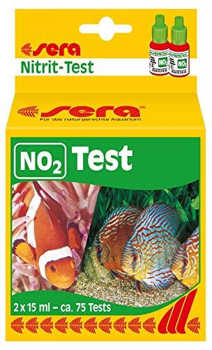 sera 04410 Nitriettest (NO2), watertest voor ca. 75 metingen, meet betrouwbaar en precies het nitrietgehalte, voor zoet- en zeewater, in het aquarium of vijver.