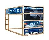 STIKKIPIX Polizeiauto Möbelsticker