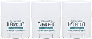 Schmidt's Deodorant Natural Deodorant - Fragrance-Free, Unscented, Aluminum-Free Odor Protection & Wetness Relief, Travel ...