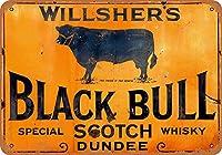 Willsher's Black Bull ティンサイン ポスター ン サイン プレート ブリキ看板 ホーム バーために
