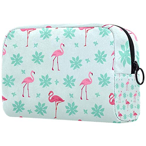 TIKISMILE Grand sac de maquillage avec flamants roses