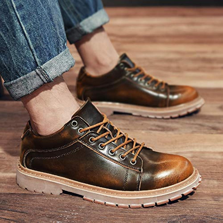 LOVDRAM Stiefel Mnner Herrenschuhe Herbst Schuhe Low Stiefel Stiefel Wild Pu Schuhe Runde Kopf Werkzeug Schuhe Martin Schuhe