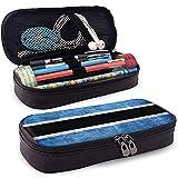 Botswana Flag Caja de lápices de cuero de gran capacidad Bolígrafo Lápiz Papelería Titular Caja...