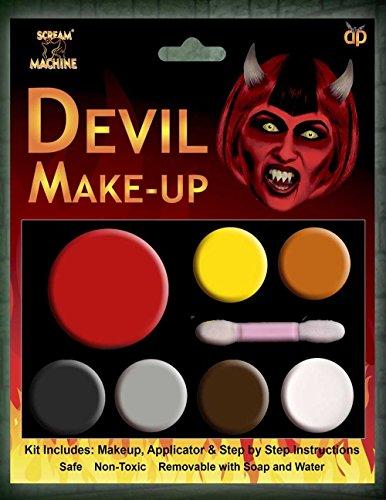 Halloween Siniestro Varios Colores Paleta Kit De Maquillaje Pintura Facial Accesorio De...