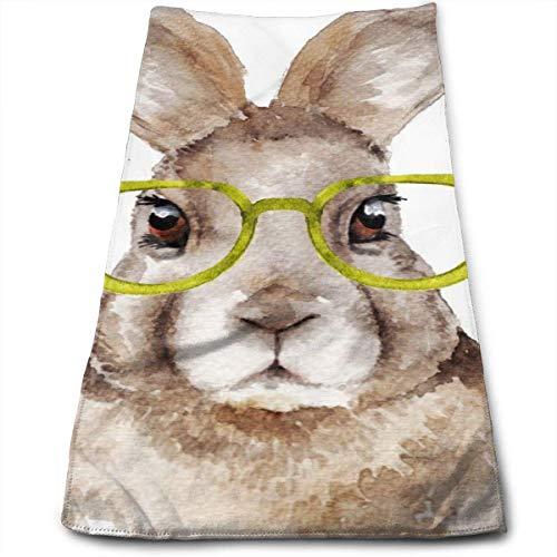 mallcentral-EU Lustiger Hase mit Brille. Weiche große Handtücher für Badezimmer, Strand