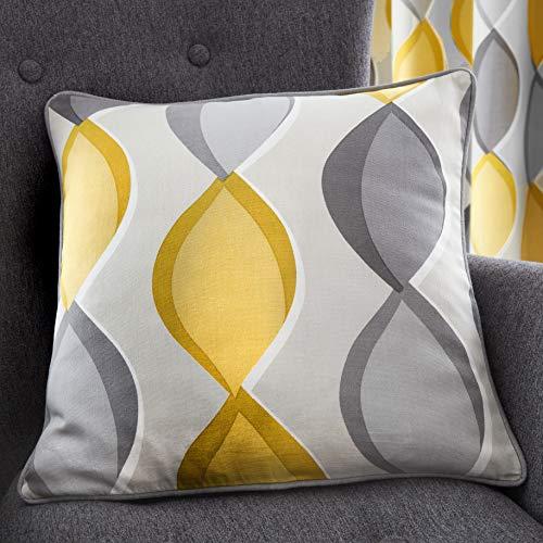 Fusion - Lennox - 100% Cotton Filled Cushion - 43x43cm (17x17') in Grey