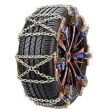 GUE 4pcs/Set Cadena Universal para La Nieve del Coche, Cadenas para La Nieve de Emergencia del Acero Inoxidable del Cinturón del Neumático para Conducir (Color Name : 6Pcs (165-245 Tires))