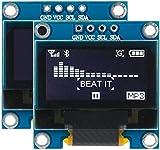 ZHITING Modulo Display OLED da 0,96 Pollici IIC I2C SSD1306 Compatibile con Driver Arduino DC 3-5V (Bianco)