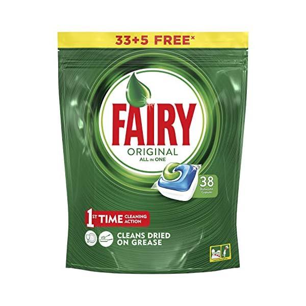 Lavavajillas Mano Fairy Todo en 1 Original 33+5 capsulas