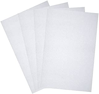 Caydo 4 Pieces Classic Reserve Aida Cloth Cross Stitch Cloth, 12 by 18-Inch, White, 14 Count