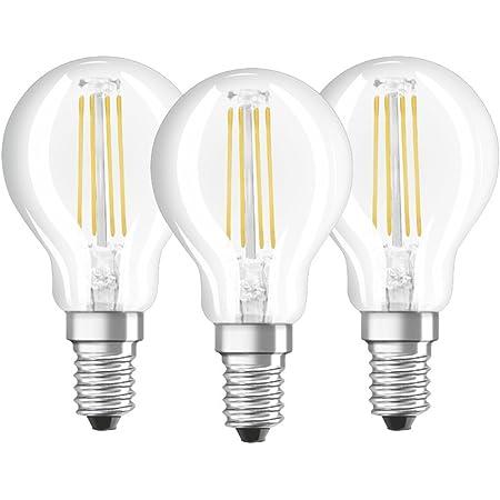 Osram - Lot de 3 Ampoules LED Filament Sphérique - Culot E14 - 4 W Equivalent 40 W - Blanc Froid 4000K