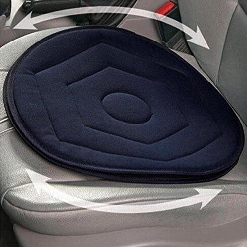Lembeauty Cojín giratorio antideslizante para asiento de coche, con memoria giratoria, espuma giratoria, para la movilidad, en la silla, color azul oscuro
