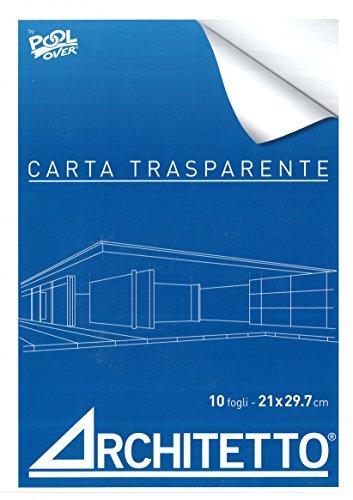 BLOCCO CARTA DA LUCIDO A4 ARCHITETTO