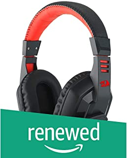 (Renewed) Redragon H120 Wired Gaming Headset with Microphone and Volume Control for Mobiles/Smart Devices, PC and PS4 (Black)