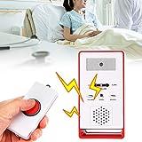 WOUPY Localizador inalámbrico, botón de Ayuda, Sistema de Alerta de enfermería, botón de Llamada para Pacientes Embarazadas, discapacitados, Ancianos