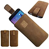 1 A Genuine Leather Brown Slim Cover Protective Case for