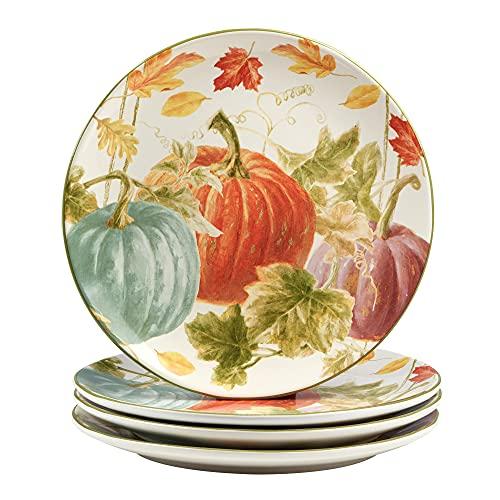 Certified International Autumn Harvest 11' Dinner Plates. Set of 4, Multicolor