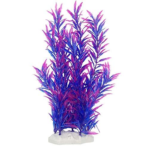 Smoothedo-Pets Aquarium Plants Fish Tank Decorations 12inch/Tall Plastic Artificial Plant Goldfish Waterscape Fish Hides