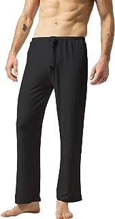 ZSHOW Men's Super Soft Yoga Pants Long Knit Slant Pockets Pajama Lounge Pants
