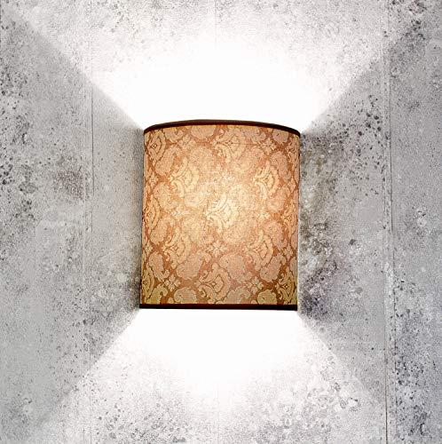 Loft Wandleuchte ALICE Barock Design Stoff Schirm Wandlampe Wohnzimmer Flur