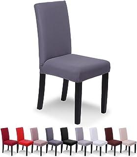 SaintderG® Housse de Chaise 6 pièces, Housse de Salle à Manger pour Un Ajustement Universel, Lycra étirable, très Facile à...