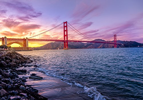 FKG Trading Adult Puzzle The Golden Gate Bridge San Francisco California 500-Piece Puzzle