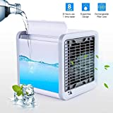 Kasish Enterprises Portable Mini Air Conditioner Fan Personal Cooler with LED Light The