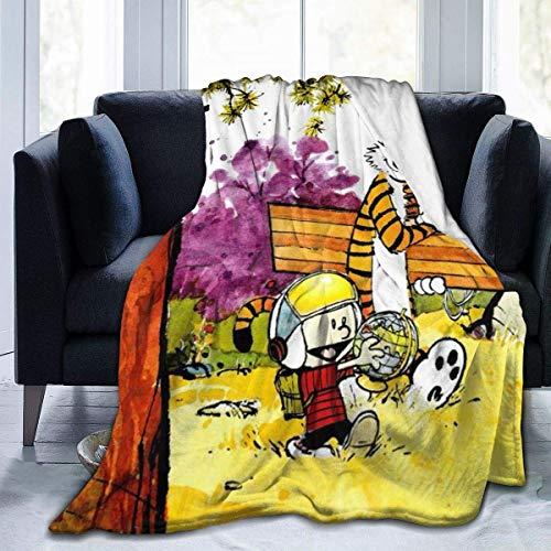 VJSDIUD Cal Vin y Ho bbes - Mantas de Franela de Forro Polar para el hogar, sofá, Cama, Oficina, Sala de Estar y Suave y cálida, Manta de Forro Polar para bebé, decoración de 50 x 40 Pulgadas