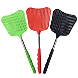foxany Fly Swatters Extendable, Durable Plastic Fly Swatter Heavy Duty Set, Telescopic Flyswatter...