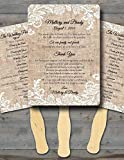 Handmade Ceremony Programs