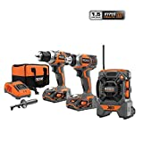 RIDGID 18-Volt X4 Hyper Lithium-Ion Cordless Drill and Impact Driver Combo Kit...