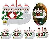Mihqy adornos navideños 2020 superviviente Familia Personalizado Kit de decoración navideña Regalo Creativo para árboles de Navidad Regalo de Festival para la Familia(Personalícelo usted mismo)
