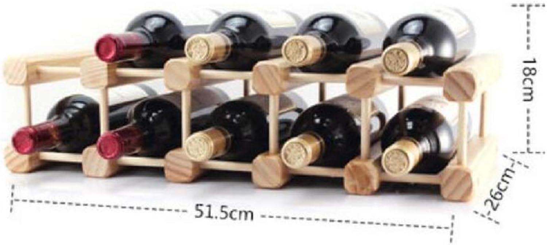 autorización LUL Decoración de Estante Estante Estante de Vino de Madera Gabinete de Vino de Madera Maciza Hogar Estante de la Botella de Vino Gabinete de Vino Creativo  mejor vendido