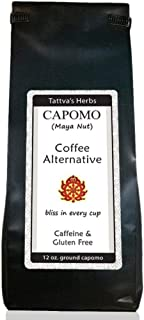 Capomo - Herbal Coffee Alternative & Substitute - Caffeine Free, Acid Free, Delicious Dark Roast , Organic, Non GMO, Eco Friendly, Antioxidant & Superfood - 12 oz. From Tattva's Herbs