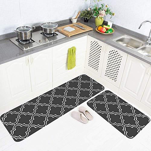 Amcerd Teppich Läufer Flur, Teppich Flur Modern, rutschfest Waschbar für Wohnzimmer Flur Küche - 70x420cm