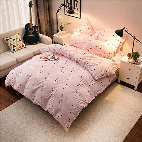 WHSS Funda de edredón doble para cama de matrimonio con impresión digital de 4 piezas, 2 fundas de almohada para 1 persona de matrimonio, 1 sábana