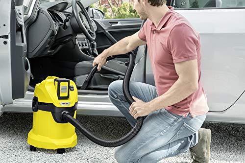 Kärcher MV 3 Premium Aspirador seco-húmedo, 1000 W, 17 litros, 71 Decibelios, Corriente sin control de encendido, Metal…