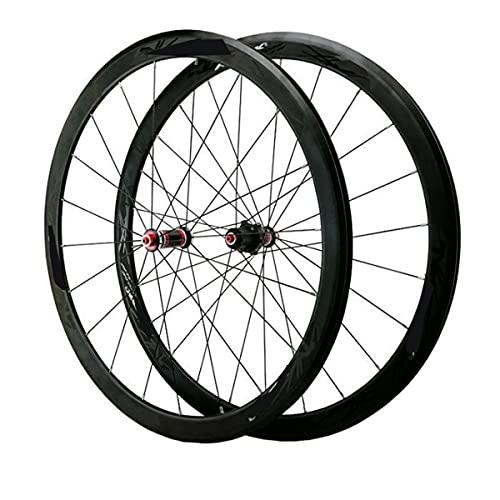 VDSOIUTYHFV Juego Ruedas Bicicleta Carretera 700C Llanta Bicicleta Doble Pared 40mm 8-11...
