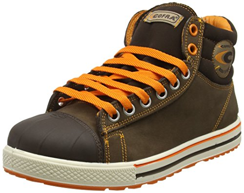 COFRA Conference, Zapatos de seguridad de trabajo, Multicolor (Grey/Brown/Yellow), 42 EU
